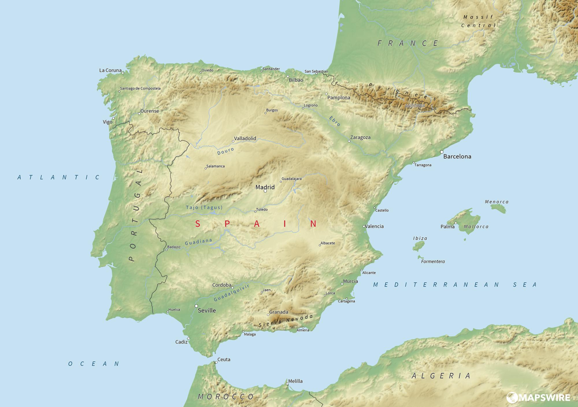 spain-physical-map-large
