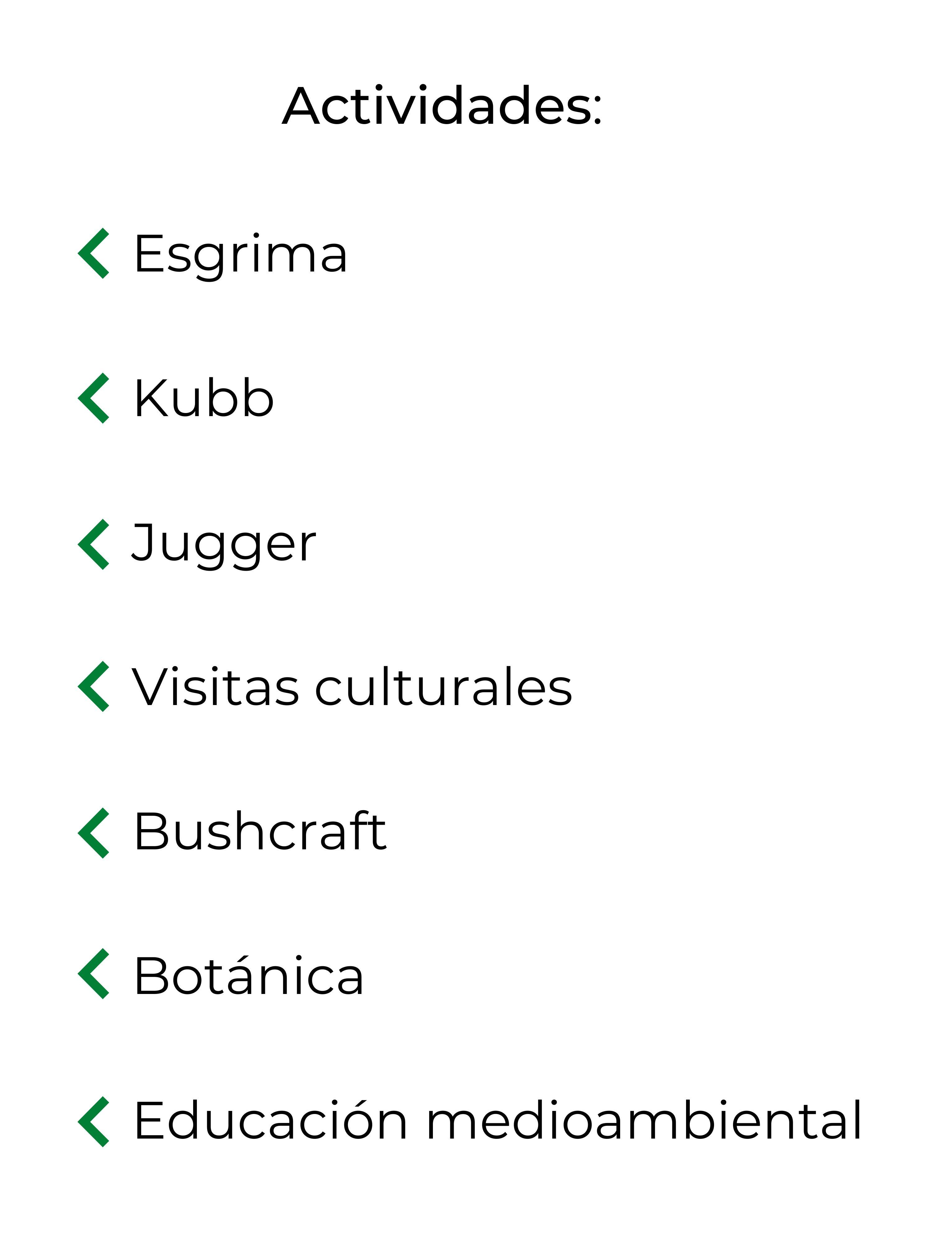 Esgrima Kubb Jugger Visitas culturales Bushcraft Botánica Educación medioambiental (1)